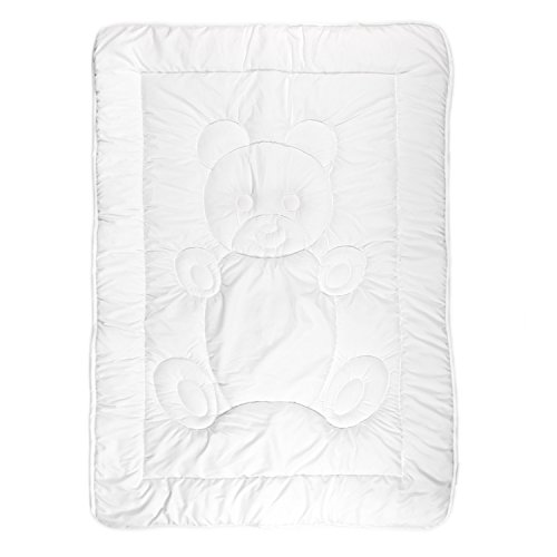 Tadpoles Toddler Comforter, Teddy Pattern/White from Tadpoles