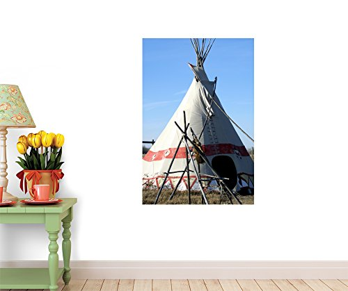 """Example of American Plains Indian Teepee - 24""""H x 16""""W - Peel and Stick Wall Decal by Wallmonkeys"""