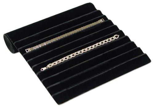 Jewelry Display Bracelet Ramp 9 Rib Black