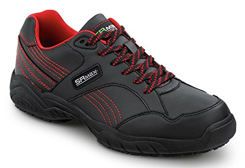 SR Max Corbin Men's Black/Red Soft Toe, Slip Resistant Athletic Shoe (10.5 - Mens Athletic Slip
