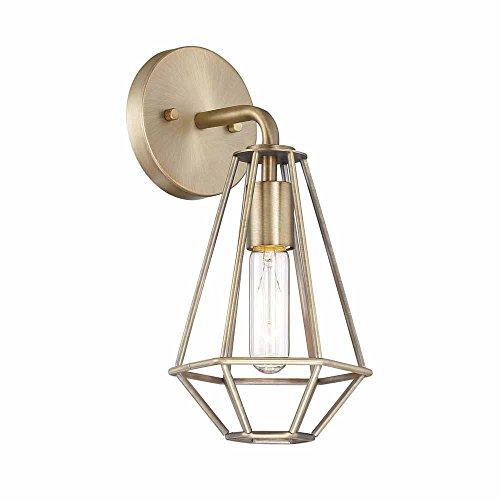 (Cordelia Lighting 1-Light Old Satin Brass Wall Sconce)