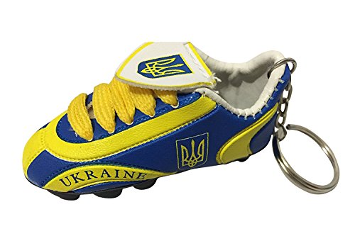Ukraine Soccer Football - Football Soccer Futbol Mini Shoe KeyChains KeyRings - Europe (Country: Ukraine)