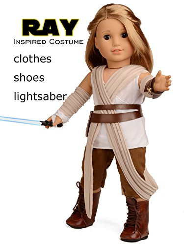Sweet Dolly Doll Clothes Rey Inspired Doll Costume for 18 inch American Girl Doll