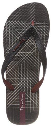 Iii Ipanema Multicouleur Bordeaux noir Ad Flip Parati Hommes 8901 Flops qqCEfc
