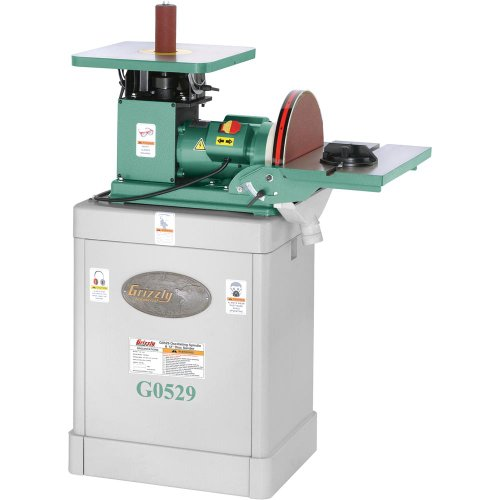 Learn More About Grizzly G0529 Oscillating Spindle/Disc Sander, 12-Inch