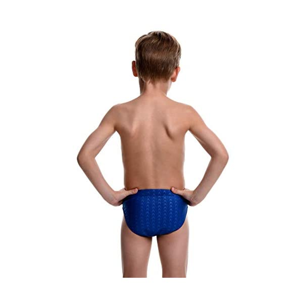 Boys Brief Style Swimsuit for Swimming Practice and Competition in Suit Size 21 to 32 Flow Splice Swim Briefs