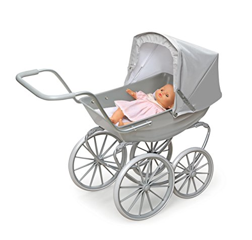 Badger Basket London Doll Pram ,fits American Girl Dolls, Gray by Badger Basket (Image #3)