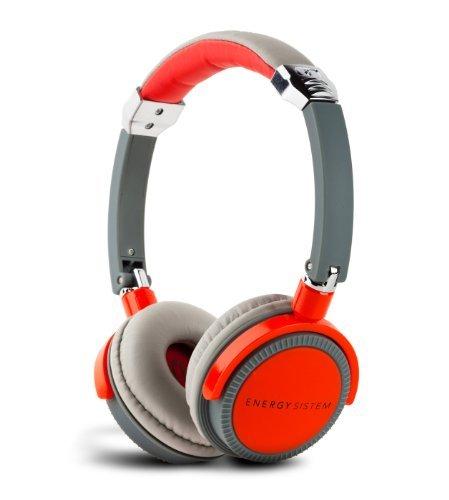 Energy Sistem® Headphones EnergyTM DJ 410 Red Grey with Mircrophone