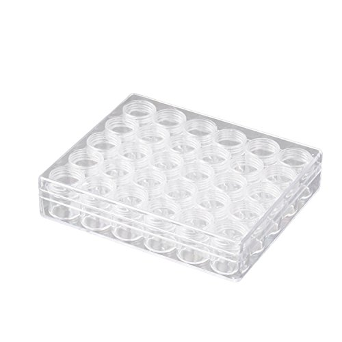 JDONOW 30 Grids Jewelry Earring Beads Sewing Pills Storage Containers Transparent Plastic Box Beads Organizers Assorted Storage Bottle by JDONOW