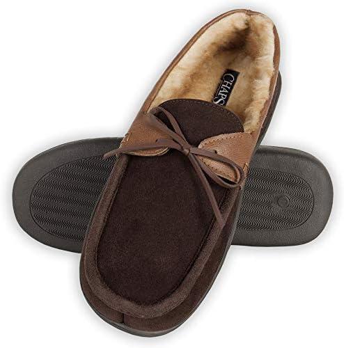 CHAPS Mens Slipper House Shoe Moccasin