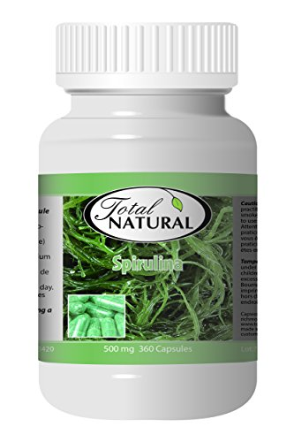 Spirulina 500mg 360c - [12 bottles] Vitamins And Minerals by Total Natural