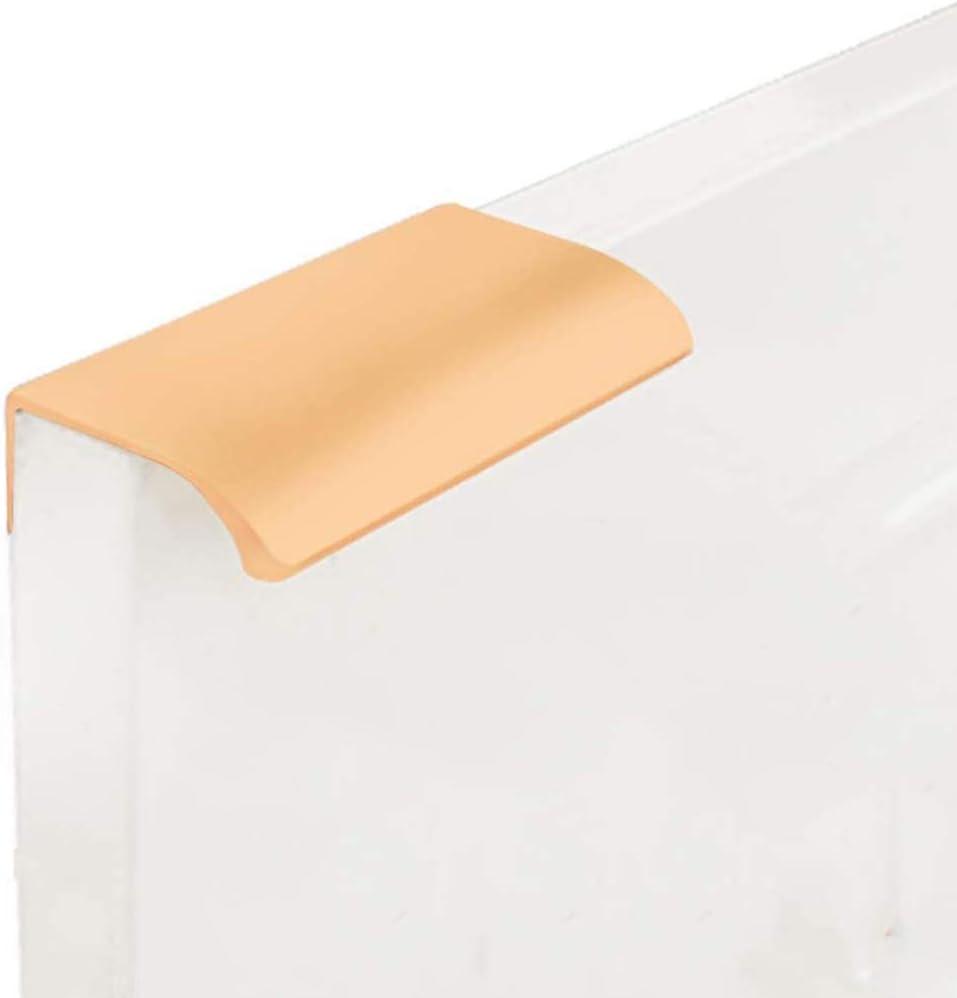 10 Pack Modern Style Finger Edge Pull Furniture DrawerHandles Hidden Cabinet Kitchen Drawer Handles Knobs, Gold 80mm