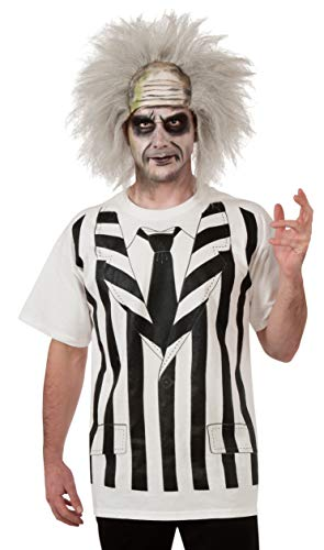 Rubie's Beetlejuice Costume Shirt And Wig, Multi, X-Large