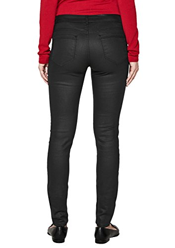 Oliver BLACK LABEL Damen Sienna Slim  Beschichtete Jeans Black Denim bGZc0J  s. 456b927c65