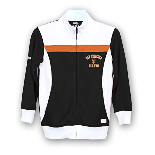 Stitches MLB San Francisco Giants Girls Fashion Track Jacket, Large, Black/White (Francisco Jacket Giants San)