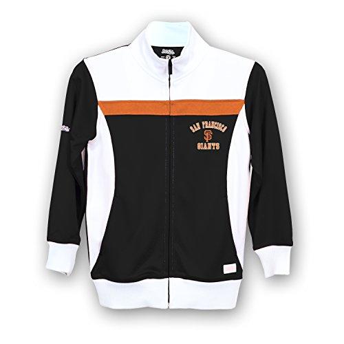 Stitches MLB San Francisco Giants Girls Fashion Track Jacket, Large, Black/White (Francisco Jacket San Giants)