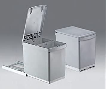 Relativ Wesco Basic-2 Abfalleimer 2x7,5L Vollauszug 30-er Küchenschrank  SG97