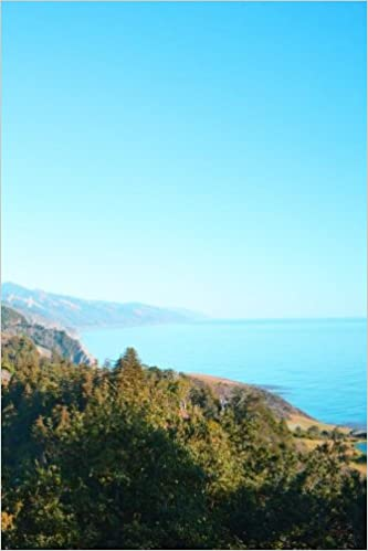 Journal: Coast, Big Sur, California, 150 Lined Sheets, Front & Back Image Cover