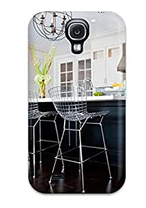 SNvcvZR27775TdcBS Transitional Kitchen With Orbit Chandelier And Bertoia Barstools Awesome High Quality Galaxy S4 Case Skin