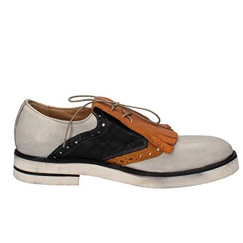 MOMA - Zapatos de cordones de Piel para hombre Bianco/Giallo