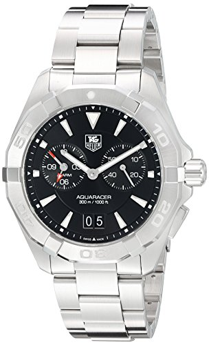 Tag Heuer Chronograph Wrist Watch - Tag Heuer Aquaracer Chronograph Black Dial Stainless Steel Mens Watch WAY111Z.BA0928