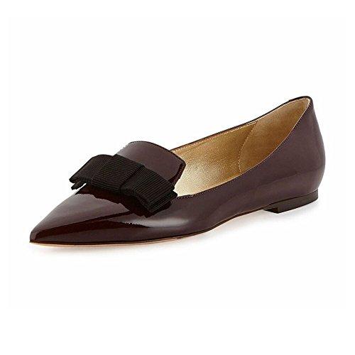 Ballerine Da Vino A Elashe Farfalla Donna Classic Scarpe Cravatta Flats qtZwx5S6w