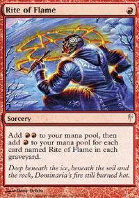 Magic: the Gathering - Rite of Flame - Coldsnap