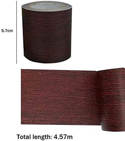 Holzeffekt Basteln braun Reparatur-Klebeband f/ür M/öbel 5 m Holzmaserungs-Klebeband T/ür