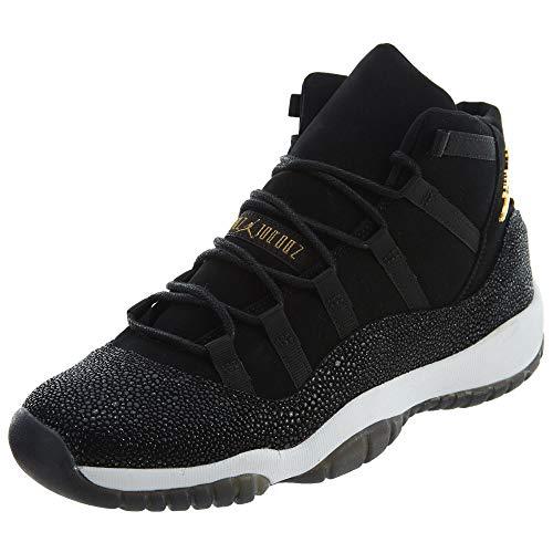 Jordan Retro 11 Premium Heiress Stingray Black/Metallic Gold-White (Big Kid) (Youth Size 8) from Jordan