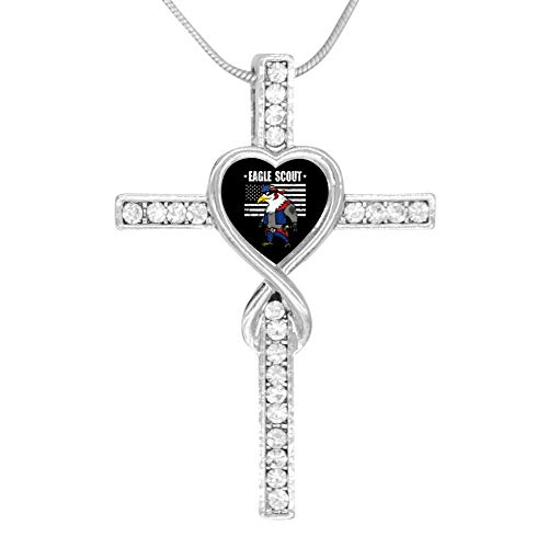 M100% Cross Love Heart Infinity God 3D Print Jewelry Eagle Flag Scout Cross Pendant Necklace