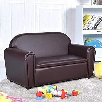 Amazon.com: Costzon Kids Sofa Set 2 Seater Armrest Children ...