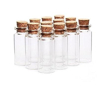 10pcs/10 ml vacío muestra frascos de vidrio botellas viales Case Contenedor con