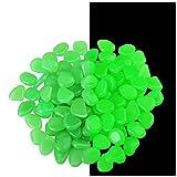 LOKJD Glow in The Pebbles Stones, 110 Pcs Glow Pebbles Stones for Outdoor, Indoor, Garden, Walkways, Fish Tank Decorations