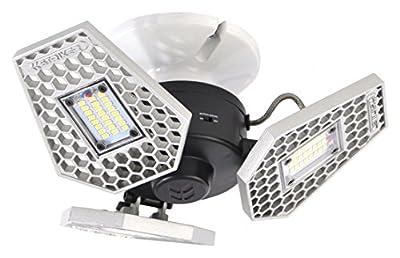 TriLight - 3000 Lumen Motion Activated Ceiling Light for Garage / Attic / Basement / Home