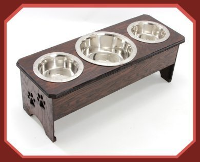 3 bowl dog feeder 12 in. tall by BOW WOW WOW DESIGNS