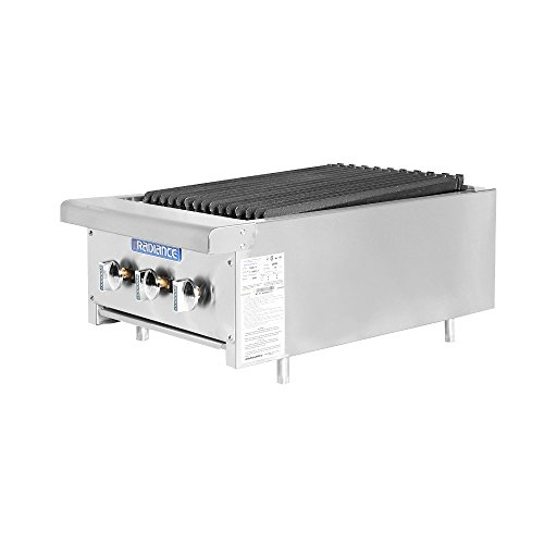 Turbo Air Radiance TARB-18 Countertop Gas Charbroiler 18