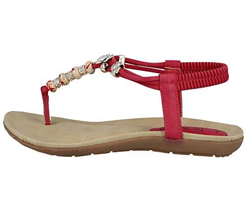Alla Ragazza' Donna Caviglia Footwear bead Da Pink Strap Foster qnA4xAE