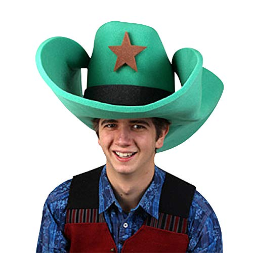 Clown Antics Super Size 50 Gallon Cowboy Hats - Green -