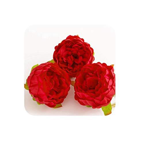 Show-Show-Fashion-1 PCS (9 cm/a) Simulation of Artificial Silk Flowers Flower Heads/Home Garden Decoration DIY Wedding Wreath Box Background&Beautiful ()