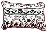 Simply Faith, Hope & Love Pillow
