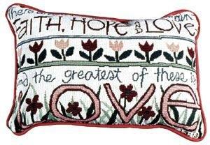 Simply Faith, Hope & Love Pillow by Simply
