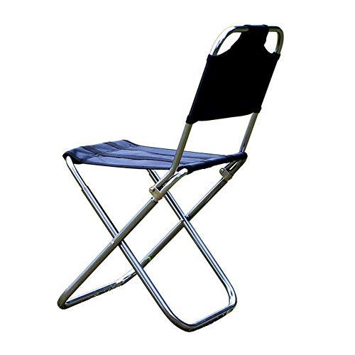 BLACKKKK Recreational Fishing Chair Barbecue Stool Outdoor Portable Stool Aluminum Alloy Folding Chair