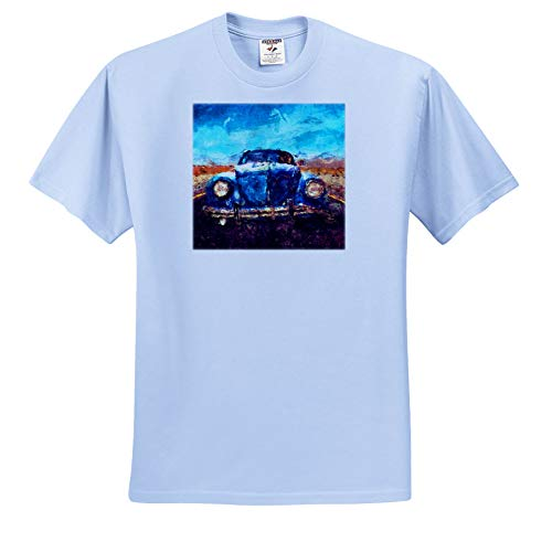 Price comparison product image Perkins Designs - Potpourri - Digital Painting of a Vintage Automobile Tooling Along a Country Road - T-Shirts - Toddler Light-Blue-T-Shirt (3T) (ts_292630_64)