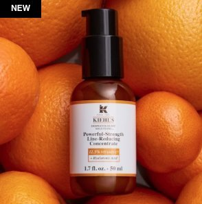 KIEHL'S SINCE 1851 Powerful-Strength Line-Reducing Concentrate 12.5% Vitamin C- Standard Size 1.7oz by Kiehl's