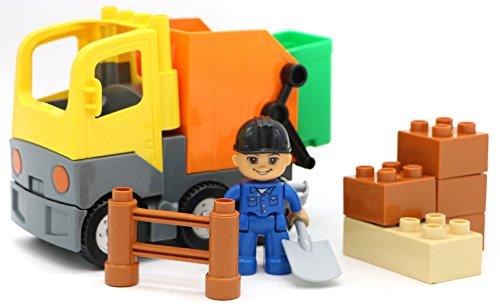 Little Treasures City Vehicle Garbage Truck 14-Pc building blocks