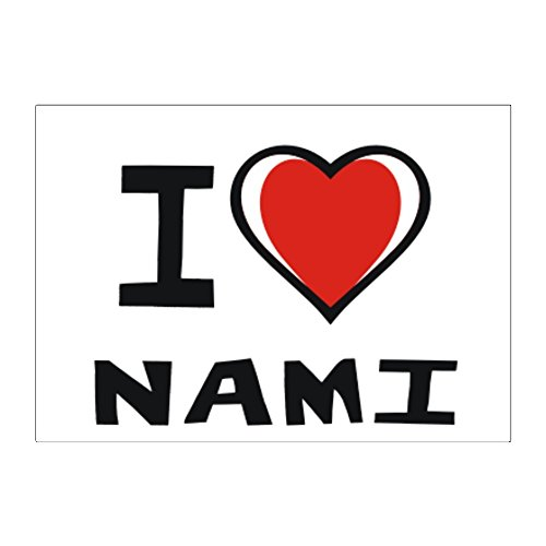 Teeburon I Love Nami Pack Of 4 Stickers