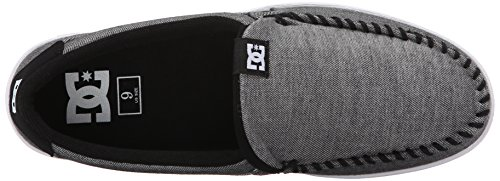 DC Shoes Mens Villain Slip-On Low Top Shoes Grey Ash