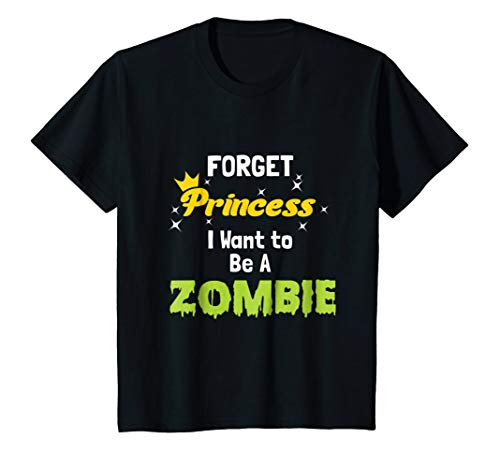 Kids Forget Princess Be A Zombie Halloween Costume -