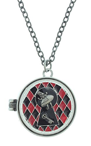 Disney Alice In Wonderland Curiouser And Curiouser Stained Glass Locket Necklace (Queen Of Hearts Card Adult Costume)