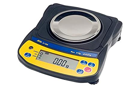 A&D Engineering Newton EJ-410 Series EJ Compact Balance, 400g Capacity, ...